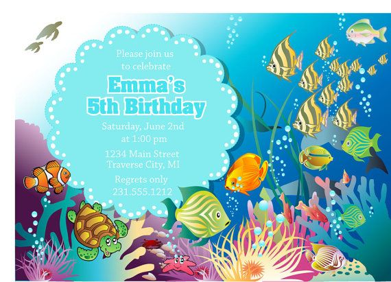 32 best under the sea invitation images on pinterest birthday under the sea invitation birthday or baby by announceitfavors 1500 stopboris Images