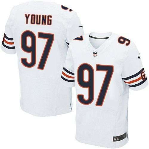 Nike Bears #97 Willie Young White Men's Stitched NFL Elite Jersey