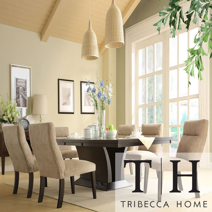 TRIBECCA HOME Charles Espresso 7-piece Contemporary Dining Set | Overstock.com Shopping - The Best Deals on Dining Sets