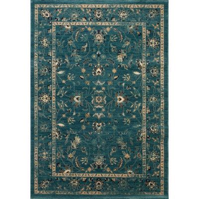 House of Hampton Herne Bay Turquoise/Beige Area Rug Rug Size: Runner 2' X 10'