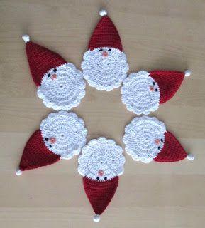 kerstman, onderzetter, gehaakt, heyleuk, haken