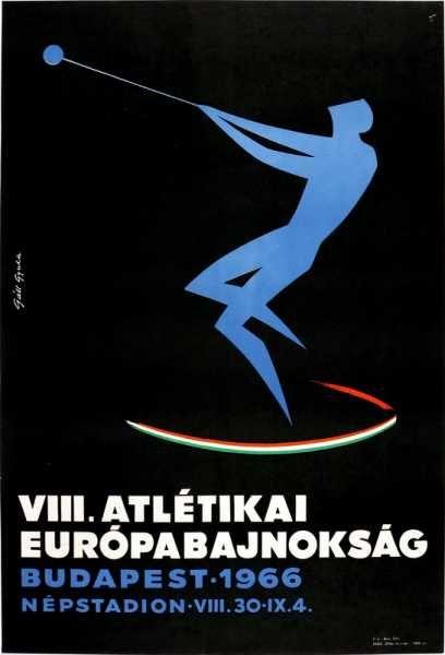 VIII. Atlétikai Európabajnokság Budapest 1966 Népstadion