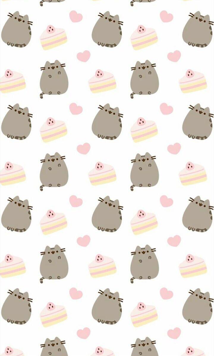 Sweet Pusheen Wallpaper Pusheen Cat Valentines Wallpaper Pusheen
