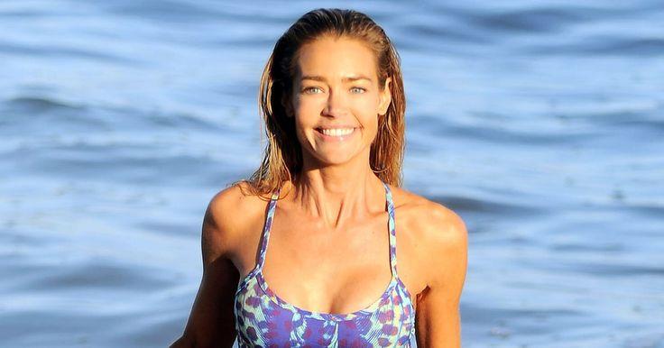 Denise Richards' bikini body hasn't changed since 1998's 'Wild Things' — see her Malibu swim style from Sunday, July 31