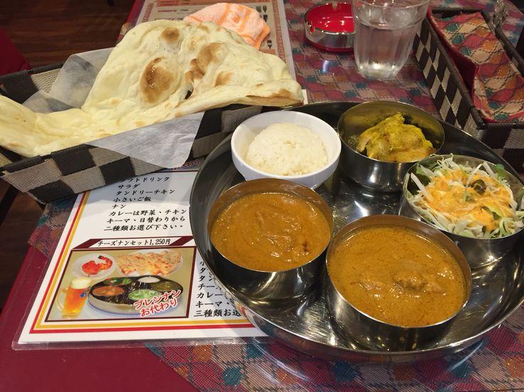 西本町 ビシャル(ネパール料理) チキンとキーマのBセット
