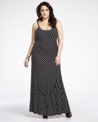 robe maxi à rayures | Magasinez en ligne chez Addition Elle