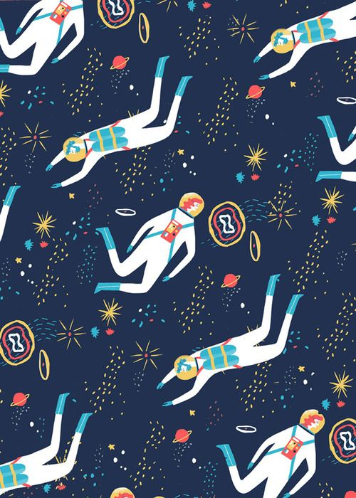 outerspace print by Naomi Wilkinson (?) | Simplify inbound marketing for your business.