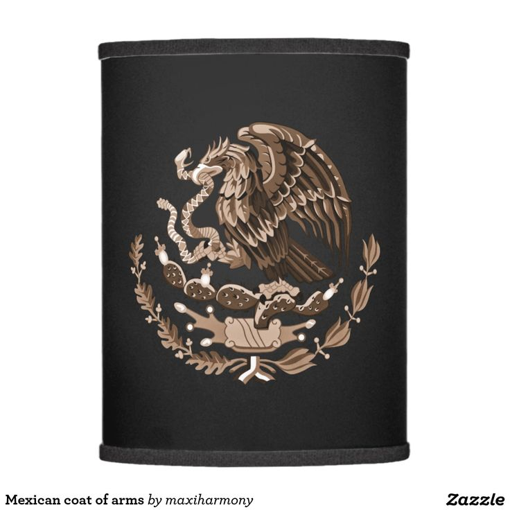 Mexican coat of arms lamp shade