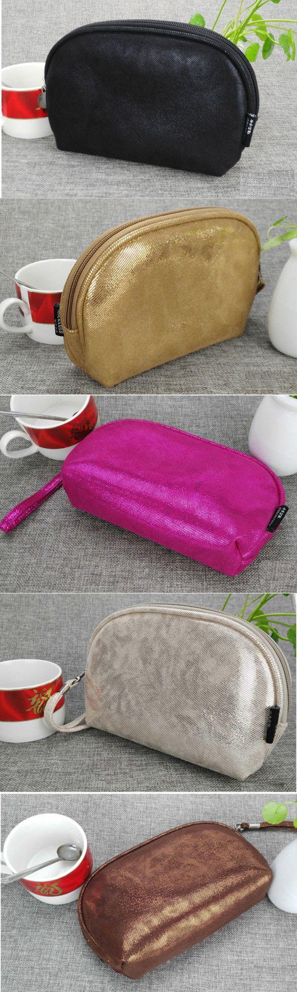 Women PU Zipper Cosmetic Bags Girls Small Coin Bags 5.5 Inches Phone Bags For Iphone Huawei Samsung