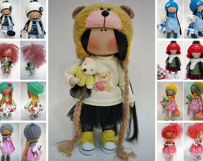 Bear doll Bambole Art doll Yellow doll Fabric doll Handmade doll Tilda doll Puppen Textile doll Nursery doll Muñecas Rag doll by Ksenia Pe