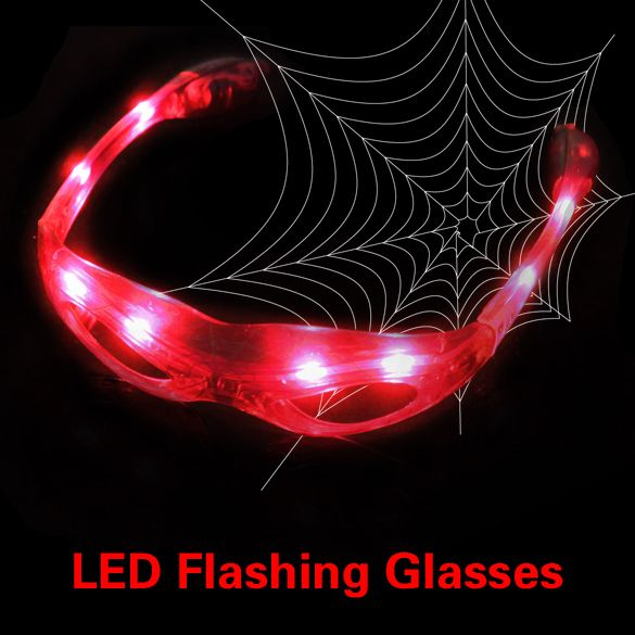 Glow Party Club LED Red Shades Lampu Up Party Diganti LED Flashing Shades Kacamata