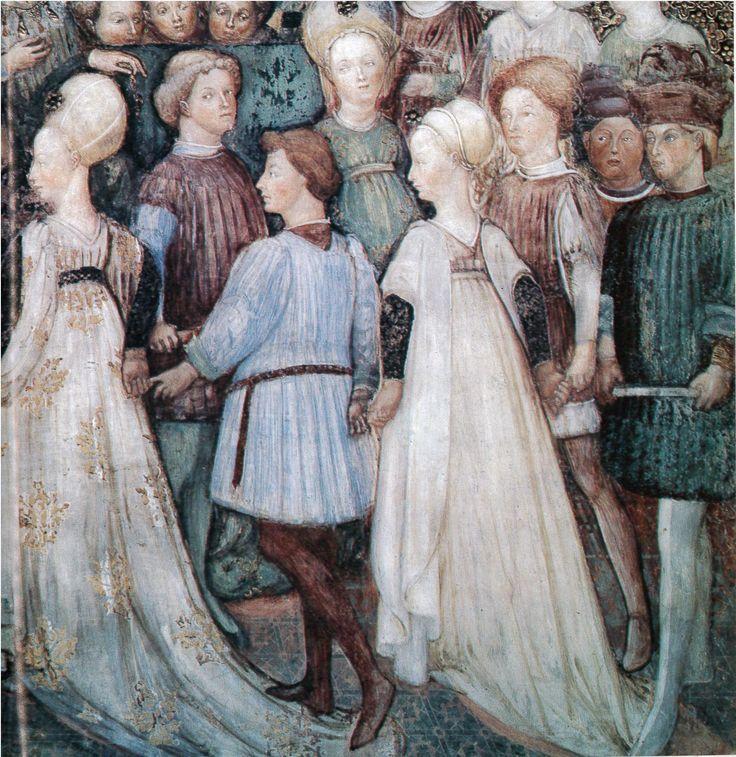 Storie di Teodolinda: Festeggiamenti per il matrimonio a Verona Bottega degli Zavattari pittura murale 1441-46 circa Monza, Duomo, Cappe...