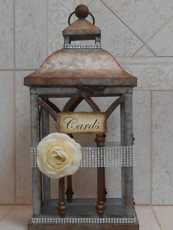 Wedding Lantern Card Holder / Card Box / Wedding Cardholder /