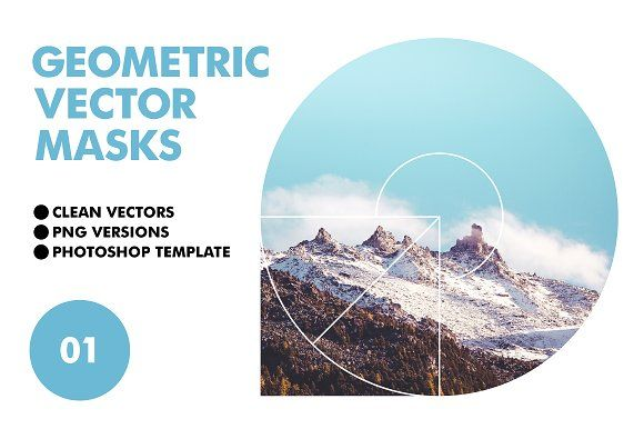 Geometric Vector Masks by Offset on @creativemarket