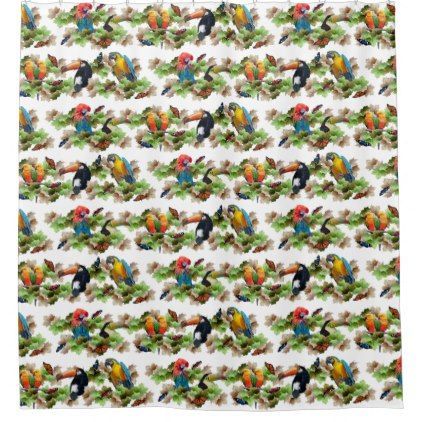 #Tropical Shower Curtain - #Bathroom #Accessories #home #living