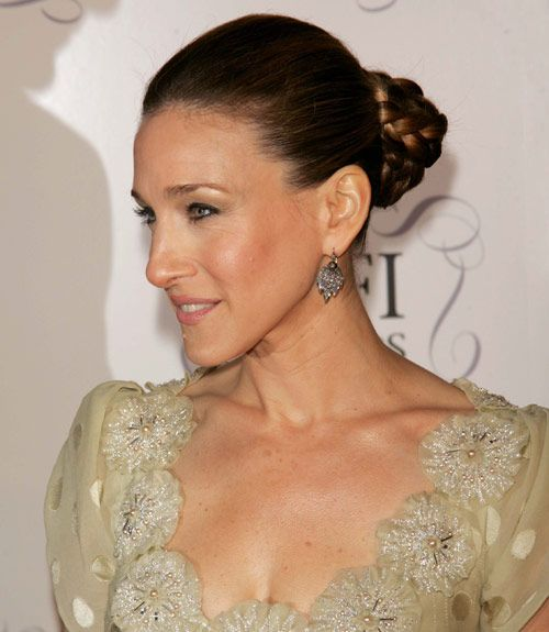If anybody knows how to get done up for a night out, it's Sarah Jessica Parker. Try her pretty braided bun for a style that will turn heads.  - GoodHousekeeping.com