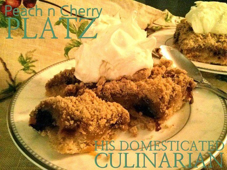 His Domesticated Culinarian: Peach n Cherry Platz with Mascarpone