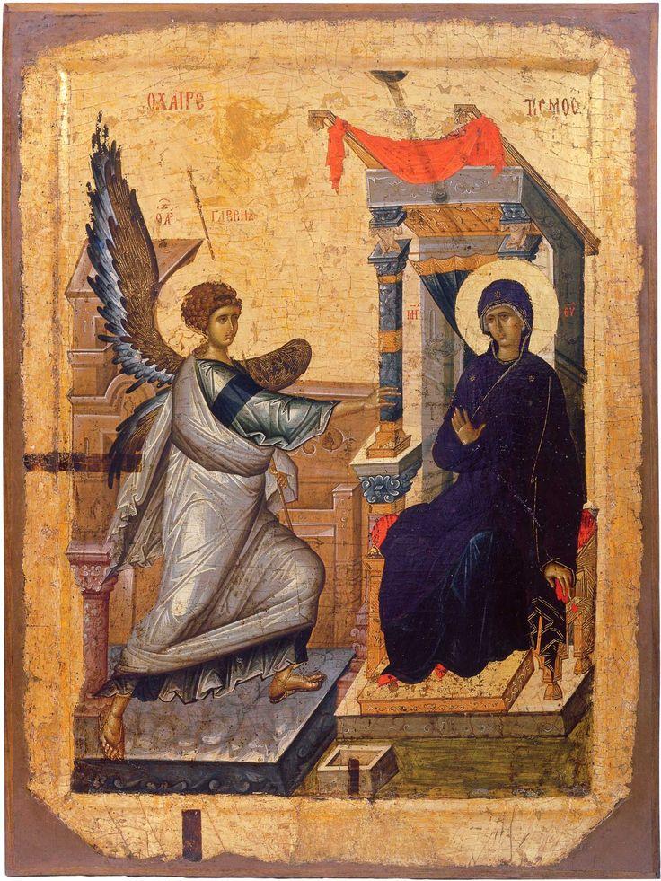 Благовещение Двусторонняя икона Первая четверть XIV в.