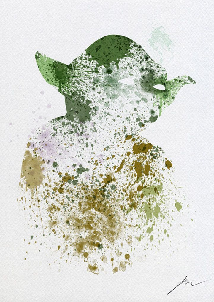 Abstract Paint Splatters of Familiar Star Wars Characters by Arian Noveir