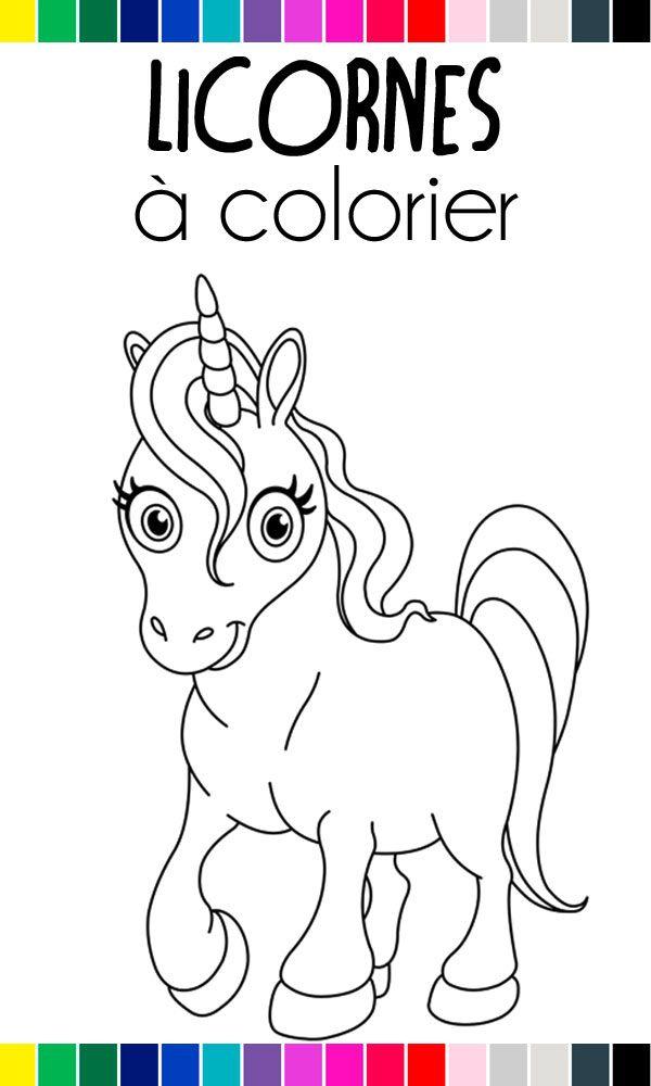 Les #licornes sont magiques… et nos coloriages gratuits à imprimer aussi ! #coloriage #dessin # ...