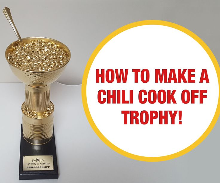 Any great chili cook off needs a great trophy! Learn how to create a chili cook off trophy that's bound to inspire a fierce competition!