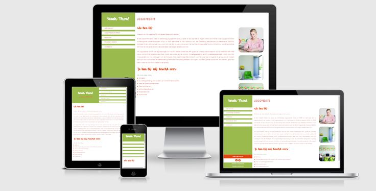 Een STARTER website voor logopediste Sarah Thoné (www.logopedie-arendonk.be) #resposive #webdesign