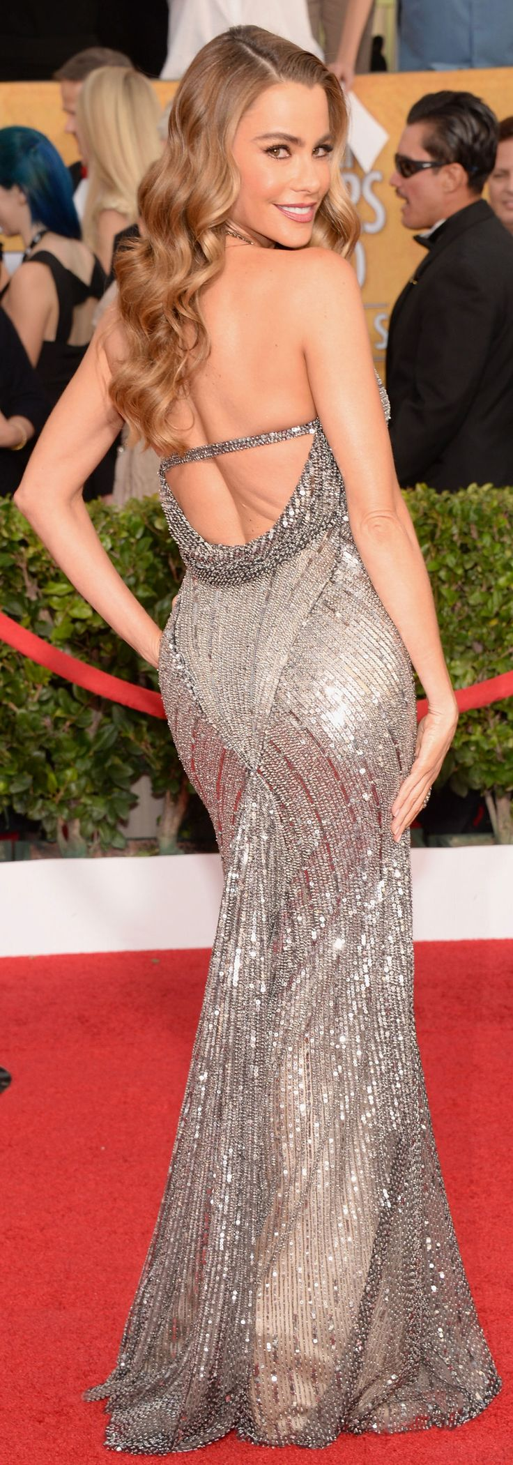 I admire her inner & outer beauty. No one does bombshell better than Sofia Vergara. #SAGAwards