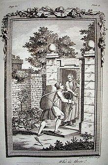 "Christian entering the Wicket Gate in ""Pilgrim's Progress"""