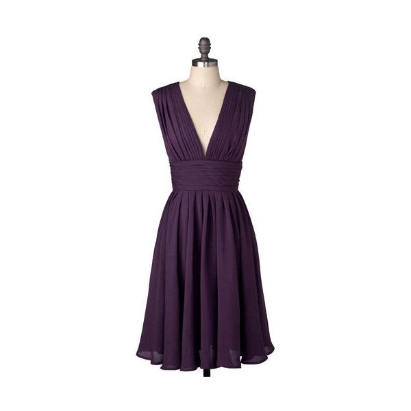 Hotel Particulier Dress ($100) ❤ liked on Polyvore featuring dresses, vestidos, purple, linen dresses, holiday party dresses, v neck party dress, purple cocktail dresses and drape back dress