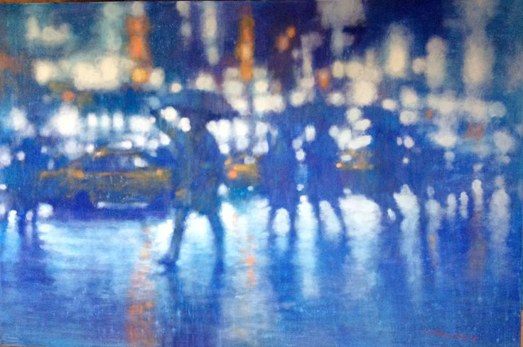 New York Affordable Art Fair 2014. Painted by David Hinchliffe.