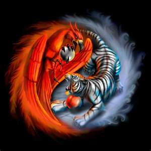 White Tiger/ Phoenix Yin Yang