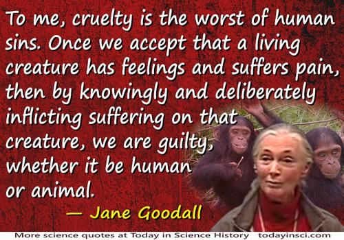 """guotes by jane goodall 