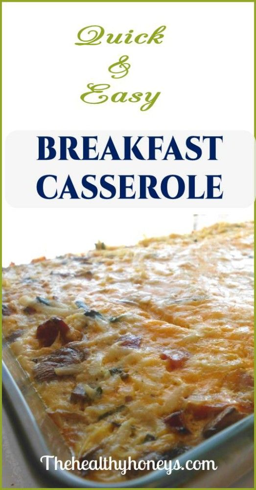 Healthy Breakfast Casserole with Sausage - The Healthy Honeys