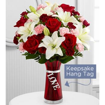 #bowmanvilleflowers #valentinesday #giftideas #love #sparklingcider #sparklerose #red #rose #teddy #bear #chocolatecoveredstrawberries  The FTD® Expressions of Love Bouquet | Bowmanville, Courtice, Newcastle, Oshawa, Whitby Flower Delivery