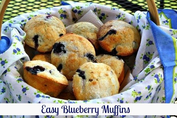 Mommy's Kitchen - Old Fashioned & Southern Style Cooking: Easy Blueberry Muffins {Locally Grown Texas Blueberries}