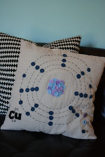 copper atom pillow @tessacantrell Someone pinned your chem project!  :)@makinprojiks