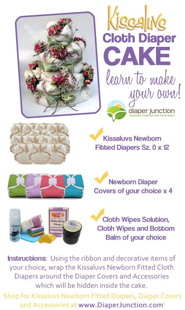 Kissaluvs Fitted #ClothDiapers Cloth Diaper Cake via http://www.diaperjunction.com/DIY-Cloth-Diaper-Cake-featuring-Kissaluvs-Newborn-Fitteds_b_903.html