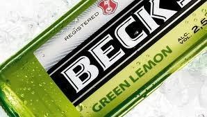 Green Lemon Beck's. Beer. Germany.