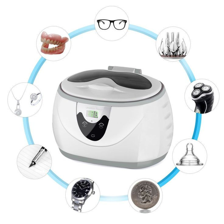 Professional Ultrasonic Jewelry Cleaner W/ Digital Timer for Jewelry Eyeglass  #Saeveck
