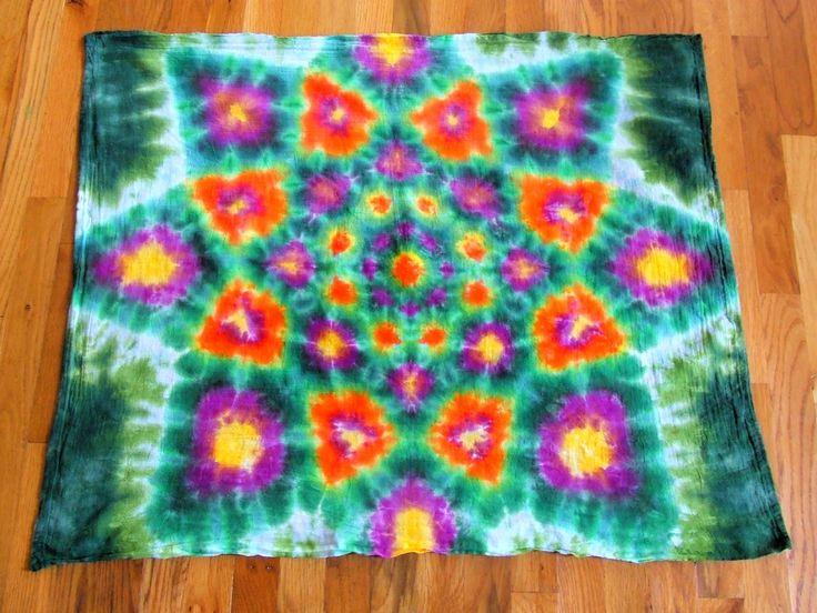 Tie Dye Tapestry Diy Pinterest Mandalas Dyes And