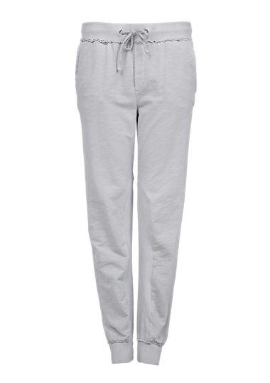 Jogger style pants met een geribd detail van s.Oliver. Ontdek en bestel nu online topactuele mode voor dames, heren en kinderen