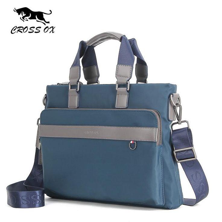 New Fashion Men's Satchel Briefcases Durable Handbag For Men Nylon Laptop Bags For Men Portfolio