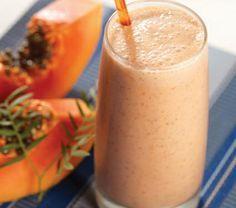 Smoothie de coco y papaya   Recetas para adelgazar
