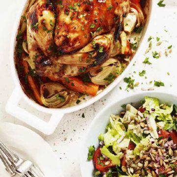 Grillad kyckling med arabisk sallad