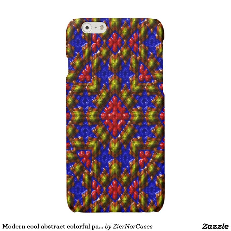 Modern cool abstract colorful pattern glossy iPhone 6 case