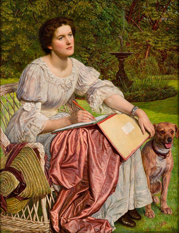 The School of Nature (Miss Gladys M. Holman Hunt) ~ William Holman Hunt (1827-1910)