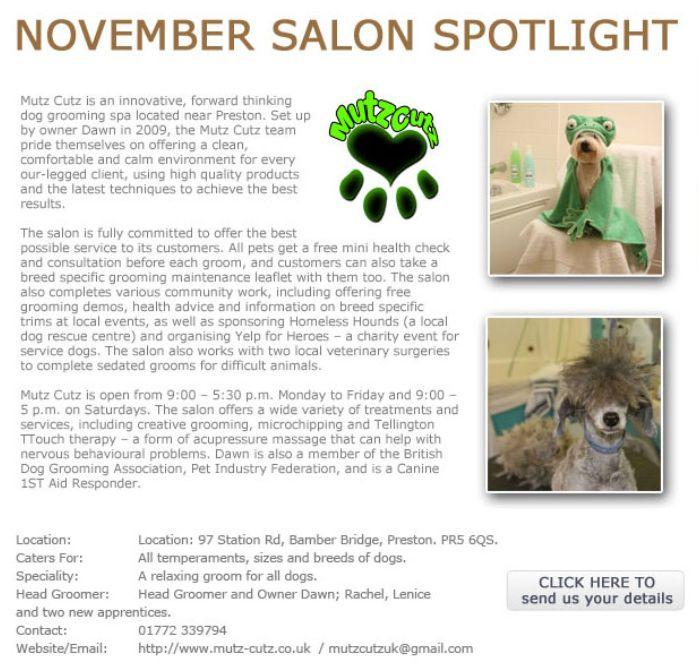 Salon Spotlight November 2013, Mutz Cutz