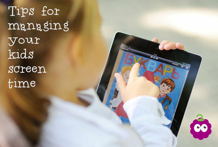 Tips for managing yoru kids' screen time