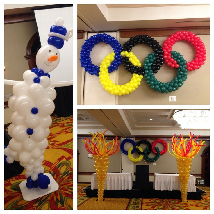 Winter Olympic balloon decoration. http://www.dreamarkevents.com/index.html