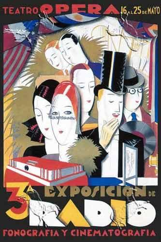 Exposicion de Radio  Poster by Luciano Achille Mauzan